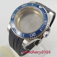 40mm sapphire glass blue ceramic bezel Watch Case set fit 2824 2836 MOVEMENT