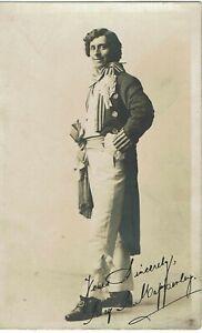 POSTCARD LOCAL IPSWICH ACTOR Reginald R Mapperley BURTIN OPERA HOUSE 1912 SIGNED