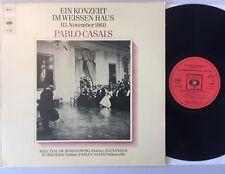 CASALS LIVE CONCERTO WITHE HOUSE 1961 MONO LP