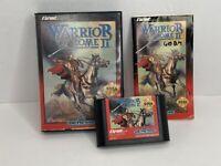 Sega Genesis 1992 Warrior of Rome II (2) Complete w/Game, Case & Manual UNTESTED