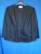 Precise Petite Black Linen, 3/4 Sleeve, Pleated Back, Lined Jacket Size 14