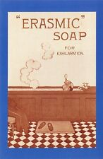 Nostalgia Postcard 1920 Erasmic Soap Advertisement Reproduction Card NS16