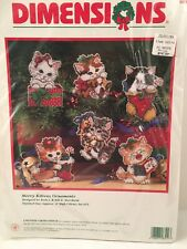 New Vintage Dimensions - Counted Cross Stitch Kit - Merry Kittens Ornaments 1997