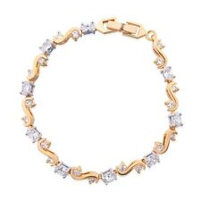 MODOU New Charms Oval & Round Brilliant White Sapphire Women Link Bracelet 8.1""