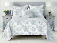 Bianca Elaine Blue 3-Pce Coverlet Set Single Double|Queen King|Super King Size