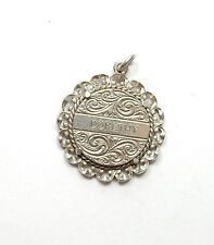 Vintage Stamped Sterling Silver NUVO DORETHY NAME TOKEN Charm Pendant 5.2g