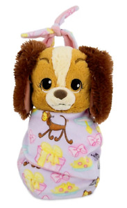 """Disney Parks Lady Puppy Babies Blanket Pouch Baby 10"""" Plush Doll Tramp Soft  NEW"""