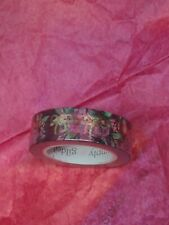 Simply Gilded Maroon Floral With Bows Washi Tape New
