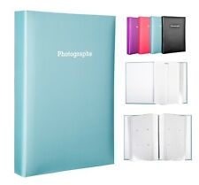 Large Blue Memo Slip In Photo Album Holds 300 6 x 4 Photos (10x15cm)