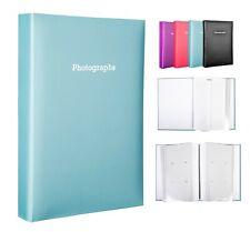 Plata Autoadhesivo álbum de fotos 12 Hojas 24 lados almacena hasta 48 fotos 6x4