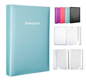 Large Blue Memo Slip In Photo Album Holds 300 6 x 4 Photos (10x15cm)