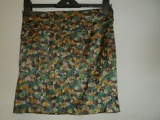 "Urban Behavior ladies gold skirt with floral  size 6 waist 28"""