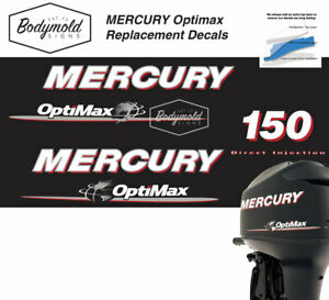 Mercury Optimax 150hp outboard decals 2008 Onwards