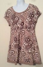 Justice Girl's Top Beige Brown White Bling Size 14 Excellent Condition
