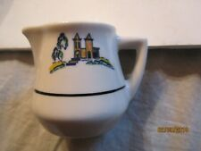 Vintage Yellow Building w/Tree Restaurant Pitcher Made by Syracuse China