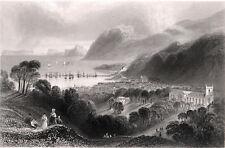 Port Penryn et Bangor 1841 James Charles Armytage-William Bartlett Gravure