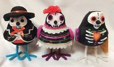 2018 Halloween Day of Dead Collection Fabric BIRDS Target Decor LOT of 3 Muertos