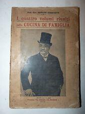 A. Giaquinto: I quattro volumi riuniti della cucina di famiglia 1912 Bracciano