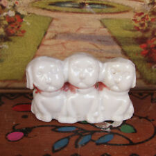 Antique 20s Puppy Dog Japan Miniature Vtg Animal Figurine Porcelain Dollhouse