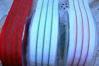 SOLID 3 Stitched Lines Ribbon 38mm wide 3 Metres - 3 Christmas Colour Choice BL1