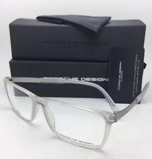 New PORSCHE DESIGN Eyeglasses P'8260 B 56-15 Matte Clear Crystal-Titanium Frames