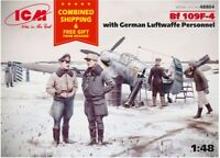 ICM 48804 - 1/48 BF 109F-4 with German Luftwaffe personnel WWII, scale model kit