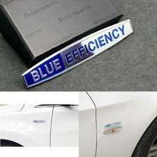 NEW 2Pcs AMG BLUE Efficiency fender badge Vip Auto Front Side Sticker Emblem