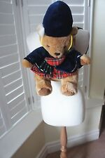 CHILDREN'S KEEL TOYS SIMPLY SOFT COLLECTION SCOTTISH TEDDY BEAR BACK PACK BNWOT