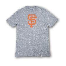 San Francisco Giants Men's T-Shirt Majestic Gray Heather Orange Logo NWOT