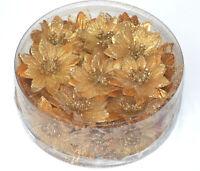 4 x Blumen Weihnachtssterne Poinsettie als Kerzenring 14x4 cm Posten Preis 5834