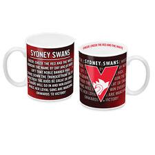 Sydney Swans AFL Coffee Mug with Team Song 330ml Birthday Man Cave Bar Gift