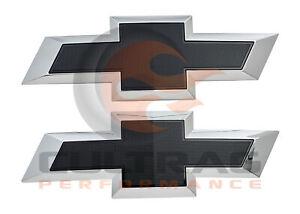 2015-2019 Chevrolet Colorado GM Front & Rear Black Bowtie Emblems 84261878