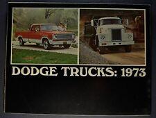 1973 Dodge Truck Brochure Pickup Crew Club Cab Tradesman Van Stake COE Original
