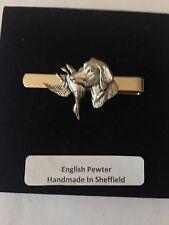emblem on a Tie Clip (slide) A25 Labrador & Duck English Pewter