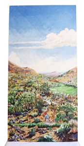 Day of Golfing in The Southwest Oil on Canvas Listed Artist Lesley Blackburn