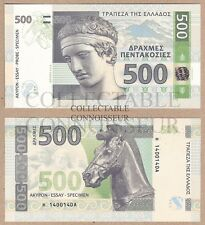 Greece 500 Drachma 2014 UNC SPECIMEN Test Note Hologram Banknote