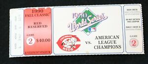 1990 World Series Ticket  ~ Game 2 Cincinnati Reds vs. American League Champions