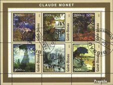 Guinea-Bissau 1612-1617 Kleinbogen (kompl.Ausg.) gestempelt 2001 Monet-Gemälde
