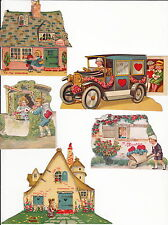 EARLY  CUT OUT VALENTINES ~ (11 CARDS) ~ c. - 1920's