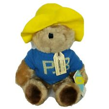 "NWT VTG Eden Paddington Teddy Bear Blue Sweater Plush Stuffed Animal 15"""