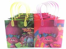 New Trolls Poppy movie Birthday Party Favor Goodie Gift candy Loot Bags 12pcs