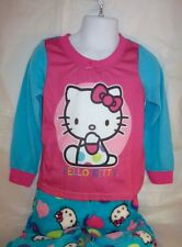 Hello Kitty Girls 4T Sleepwear 2 piece Pajama PJ Set Blue Pink Toddler