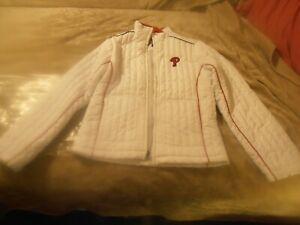 Philadelphia Phillies Girls M Full Zip Quilted Jacket