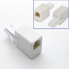 uk bt telephone plug to rj11 socket adapter adaptor connector 6p4c straight  wire