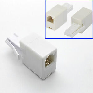 UK BT TELEPHONE PLUG TO RJ11 SOCKET ADAPTER CONNECTOR CROSSOVER WIRE ADAPTOR LAN