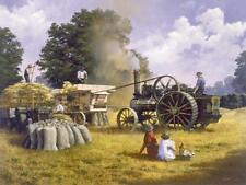 Fowler tracción Motor escena de la granja de los años veinte la trilla Tarjeta De Cumpleaños