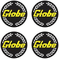 GLOBE BATHURST MAG WHEEL CENTRES BLACK & GOLD  GLOBE MAG WHEEL  STICKERS