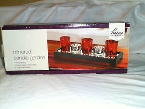 HOME ELEMENTS MIRRORED CANDLE GARDEN NEW