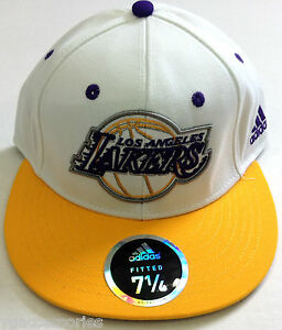 NBA Los Angeles Lakers Adidas Fitted Cap Hat NEW