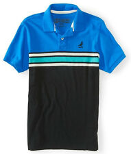 Aeropostale Mens Embroidered Aero Pigeon Rugby Striped Jersey Polo Shirt Sz XL